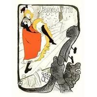 ''Jane Avril, Dancing'' by Henri de Toulouse-Lautrec Vintage Advertising Art Print (24 x 18 in.)