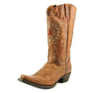 Redneck Riviera Cherry Bomb Stud Square Toe Leather Western Boot