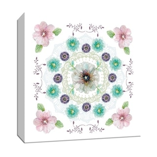 """PTM Images 9-147752  PTM Canvas Collection 12"""" x 12"""" - """"Floral Kaleidoscope II"""" Giclee Flowers Art Print on Canvas"""