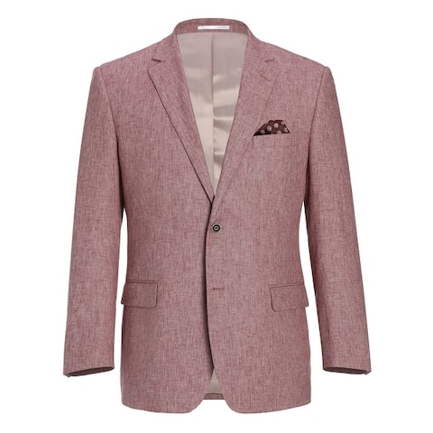 Men's Classic Fit Blazer Linen Cotton Sport Coat for Summer