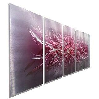 Statements2000 Silver & Pink Abstract Metal Wall Art Sculpture Panels by Jon Allen - Inflorescence