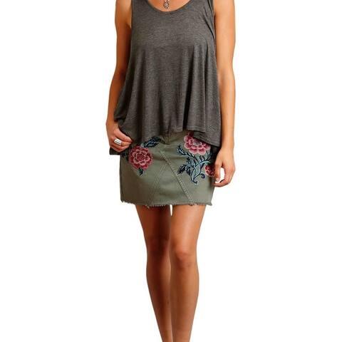 Stetson Western Skirt Womens 5 Pocket Raw Edge Hem