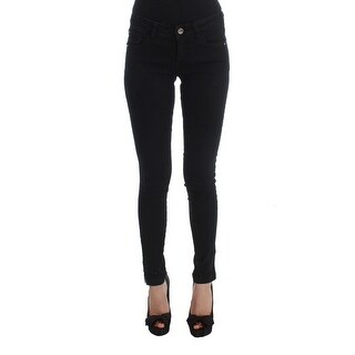 Costume National Black Cotton Slim Fit Denim Jeans - w26