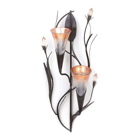 Interior Dawn Lilies Candle Wall Sconce