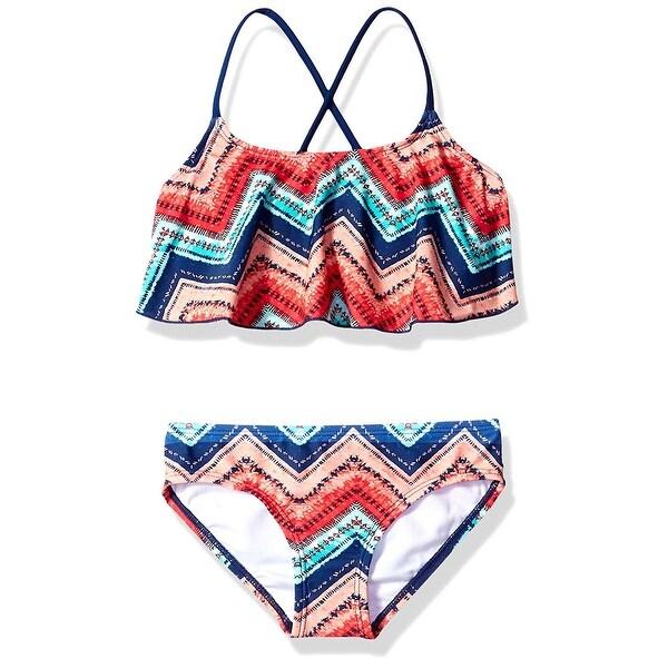 Kanu Surf Girls Karlie Flounce Bikini Beach Sport 2-Piece Swimsuit