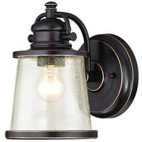 Westinghouse 6204000 Emma Jane Outdoor Wall Sconce with 1 Light with Clear Seeded Glass