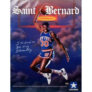 Bernard King Saint Bernard Converse 17x23 Poster w Its Good to be King insc