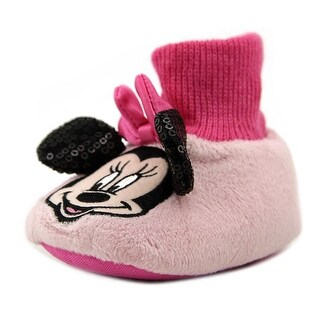 Disney Minnie Mouse Slipper Toddler Round Toe Canvas Slipper