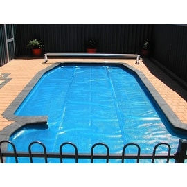 18' x 34' Oval Heat Wave Solar Blanket Swimming Pool Cover - Blue