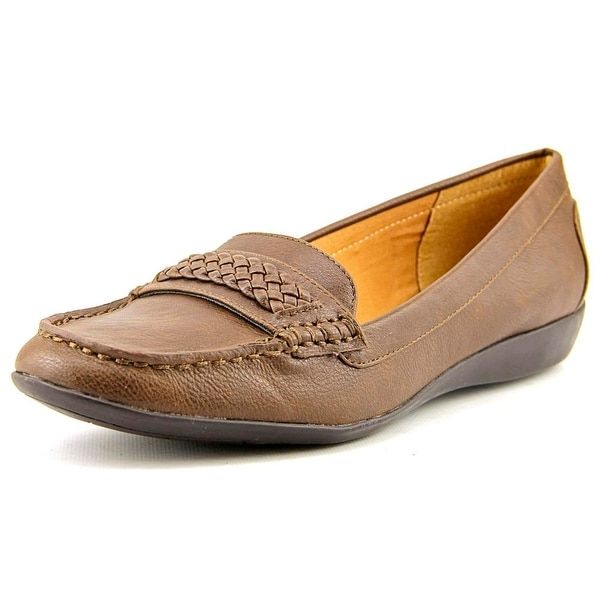 American Living Ulyssa Women Moc Toe Synthetic Brown Loafer