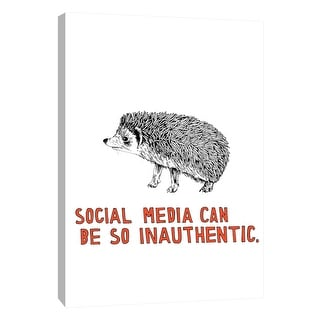 "PTM Images 9-108796  PTM Canvas Collection 10"" x 8"" - ""Hedgehog"" Giclee Hedgehogs Art Print on Canvas"