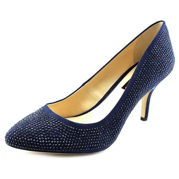 INC International Concepts Zitah3 Women W Pointed Toe Canvas Blue Heels