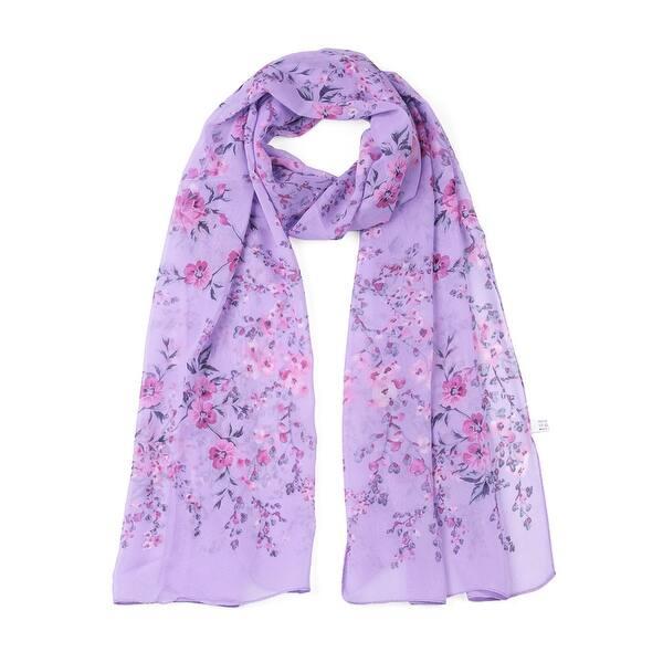 Lady Women/'s Long Soft Wrap Lady Shawl Silk Chiffon Scarf Scarves Violet Color