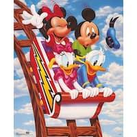 ''Mickey & Friends: Rollercoaster'' by Walt Disney Children's Art Art Print (20 x 16 in.)