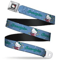 Hello Kitty W Red Bow Full Color Black Hello Kitty Zodiac Scorpio Webbing Seatbelt Belt