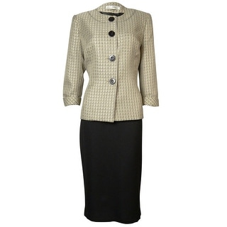 Evan Picone Women's Tweed Park Avenue Skirt Suit