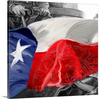 """Texas Flag"" Canvas Wall Art"