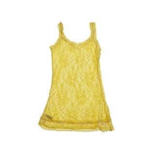 DKNY Yellow Signature Lace Camisole M