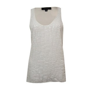 Karen Kane Women's Sequin Front Scoop Neck Tank Top - White