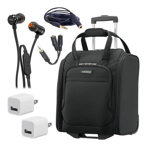 Samsonite Ascella X Softside Luggage Underseater Storage Bag Bundle -