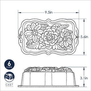 Link to Nordic Ware Wildflower Loaf Pan Similar Items in Bakeware