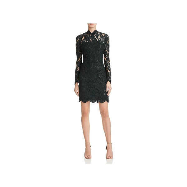 Betsey Johnson Womens Cocktail Dress Crochet Lace Scalloped