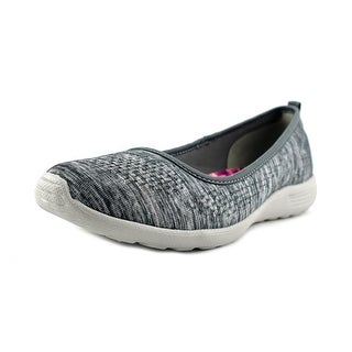 Skechers Stardust-Follow Me Women Round Toe Canvas Gray Flats