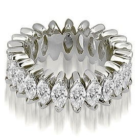 2.88 cttw. 14K White Gold Marquise Diamond Eternity Ring
