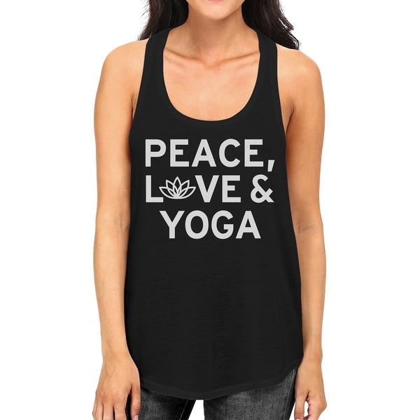 Peace Love Yoga Tank Top Yoga Work Out Tank Top Cute Yoga Racerback