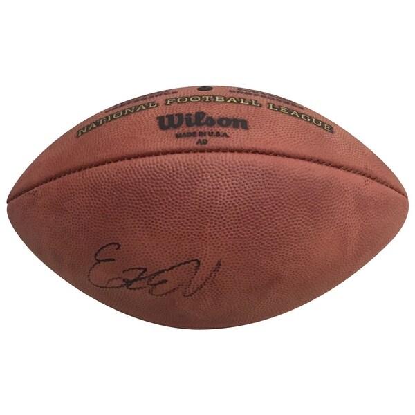 7d7c1b52a8e Ezekiel Elliott Dallas Cowboys Autographed NFL Authentic Duke Signed  Football PSA DNA COA