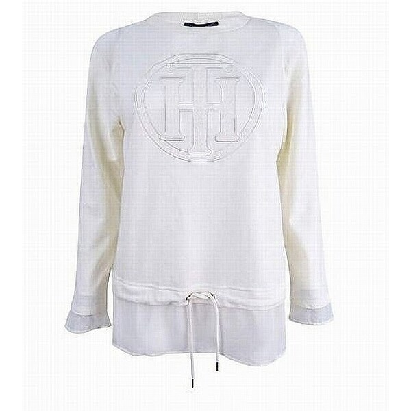 6842601cc3db Shop Tommy Hilfiger Womens Layered Monogrammed Pullover Sweater - On Sale -  Free Shipping On Orders Over  45 - Overstock - 26986742