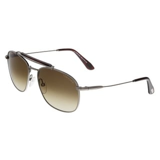 Tom Ford FT0339 09F MARLON Gunmetal Aviator Sunglasses