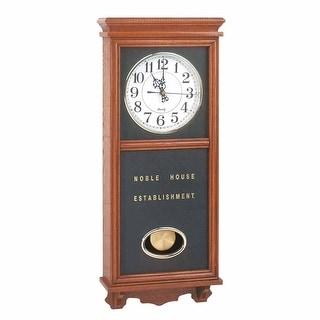 Clocks Wood Battery Operated Pendulum Clock