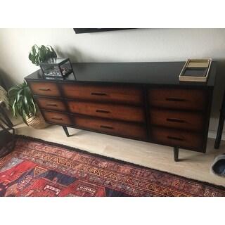 Palm Canyon Espada 9-drawer Cherry/ Black Mid-century Style Dresser