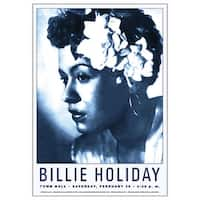 ''Billie Holiday: Town Hall NYC, 1946'' by Anon Jazz Art Print (24 x 17 in.)