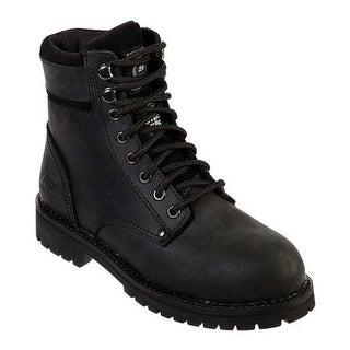 Skechers Women's Work Brooten Steel Toe Boot Black/Black