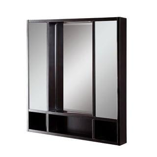 """DecoLav 9713 Tyson 30"""" Double Door Framed Medicine Cabinet with Open Cubby Stora"""