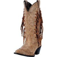 "Laredo Western Boots Womens 12"" Shaft Tygress Leather CB Brown"