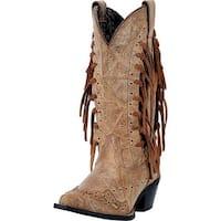 "Laredo Western Boots Womens 12"" Shaft Tygress Leather CB Brown"