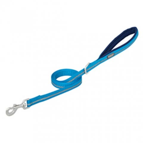 "Weaver Pet 07-5621-R2-4 Terrain D.O.G. Neoprene Lined Leash, 4', 1"" Wide, Blue"