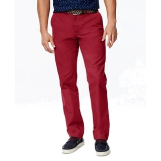 Tommy Hilfiger NEW Port Red Men 34x32 Custom Fit Khakis Chinos Pants