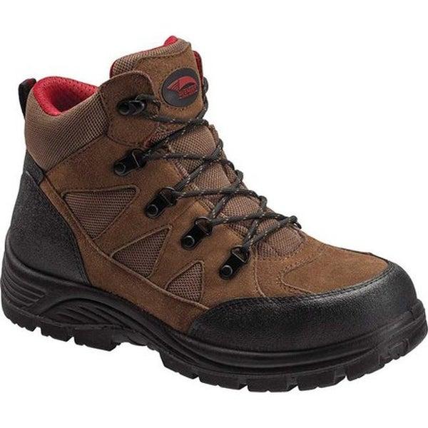 812630e61ec Avenger Men's A7242 Grid Steel Toe Safety Boot Brown Leather/Mesh