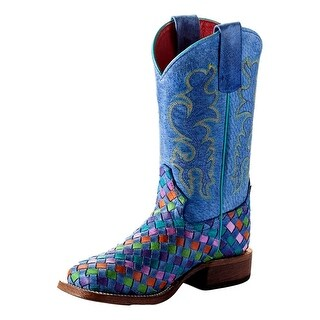 Macie Bean Western Boots Girls Kids Weave Roper Tutti Fruitti