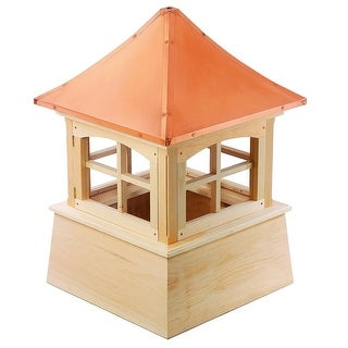 "128"" Handcrafted ""Windsor Copper Roof Wooden Cupola"