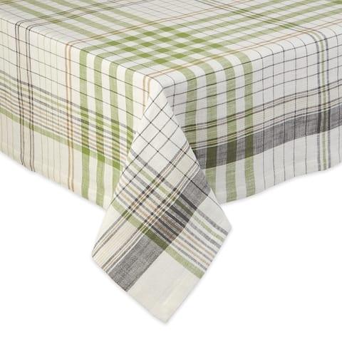 "DII Herb Garden Plaid Tablecloth - 52 X 52"""