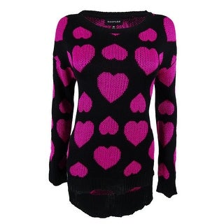 Rampage Juniors' Metallic Long Sleeves Sweater