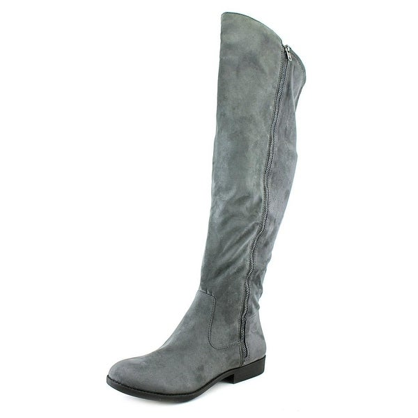 Style & Co Hadleyy Women Round Toe Synthetic Gray Over the Knee Boot