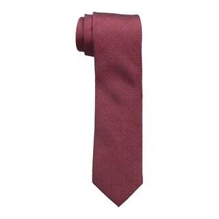 Calvin Klein NEW Red Black Men's One Size Hot Daisy Slim Neck Tie