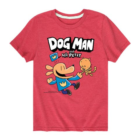 Dog Man And Lil Petey - Youth Short Sleeve Graphic T-Shirt
