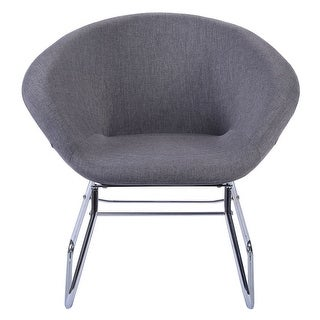 Costway Modern Gray Accent Chair Leisure Arm Sofa Lounge Living Room Home Furniture